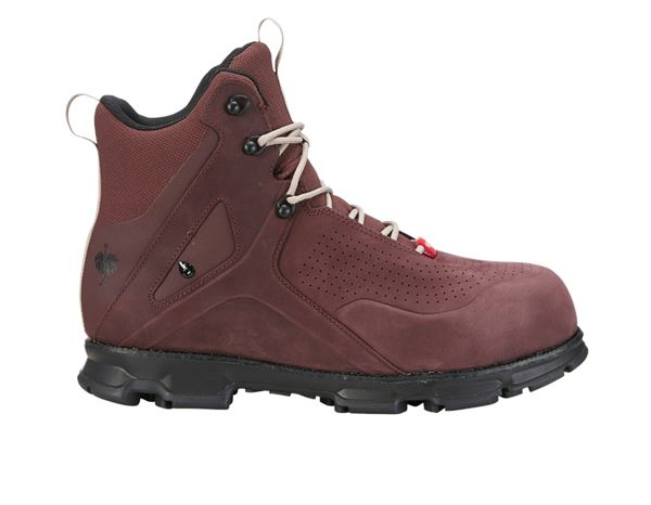 S3: e.s. S3 Safety boots Barrex mid + bordeaux