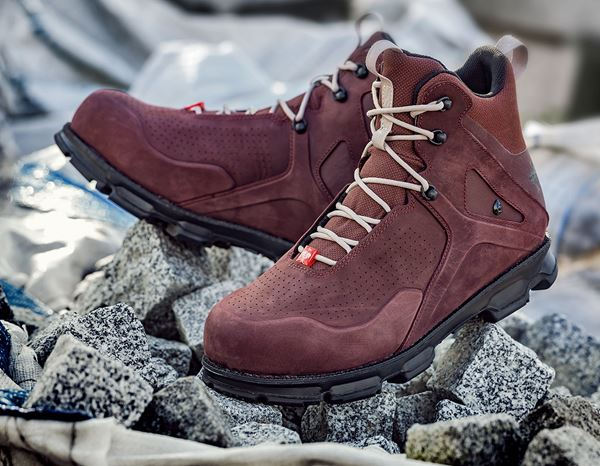 S3: e.s. S3 Safety boots Barrex mid + bordeaux 1