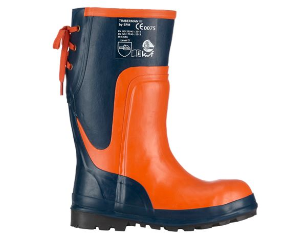 Safety Boots SB: SB Forestry safety boots Timberman III + blue/orange
