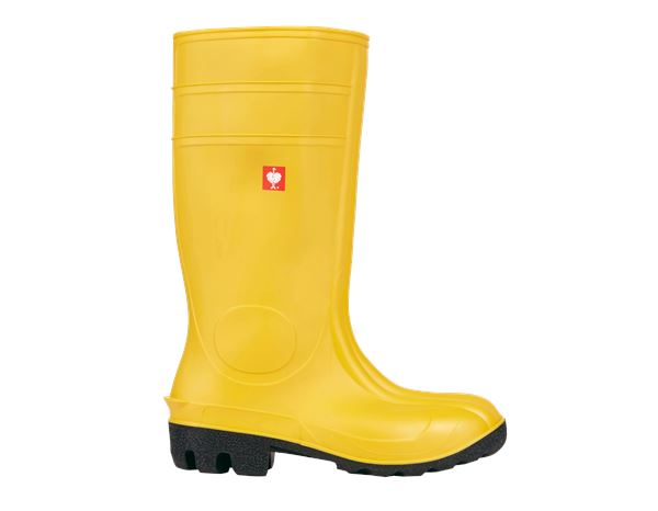 Safety Wellingtons S5: S5 Safety boots + yellow