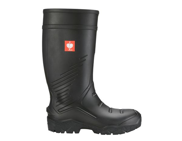 Safety Wellingtons S5: e.s. S5 Safety boots Lenus + black