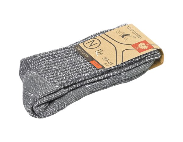 Socks: e.s. Merino socks Nature warm/high + titanium melange 1