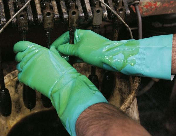Coated: Nitrile special gloves Nitril Plus 2
