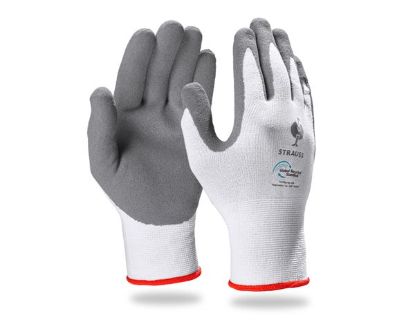 Coated: e.s. Nitrile foam gloves recycled, 3 pairs + anthracite/white