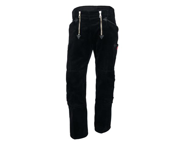 Guild Trousers: e.s. Craftman's Trousers,Kneep. Pock. Wide Wale + black