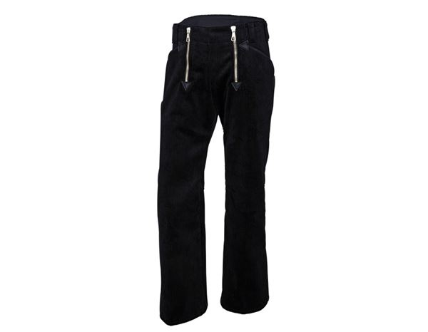 Guild Trousers: e.s. Craftman's Trousers Wide Wale Cord with Flare + black