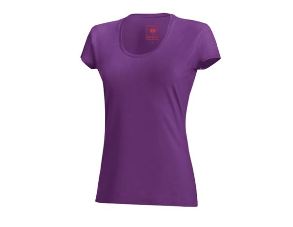 Shirts, Pullover & more: e.s. T-shirt cotton stretch, ladies' + violet