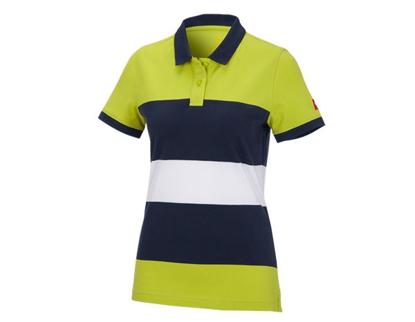 Shirts, Pullover & more: e.s. Pique-Polo cotton stripe, ladies' + maygreen/navy