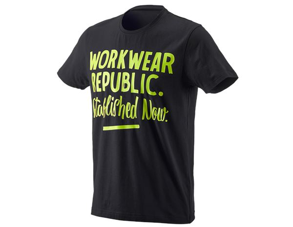 Shirts, Pullover & more: e.s. T-shirt workwear republic + black/high-vis yellow