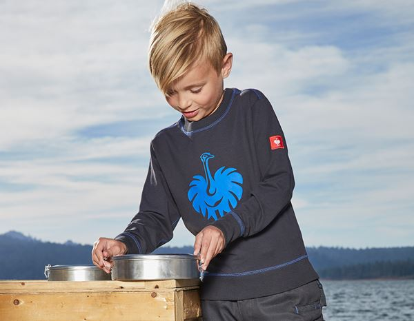 Shirts, Pullover & more: Sweatshirt e.s.motion 2020, children's + graphite/gentian blue 1