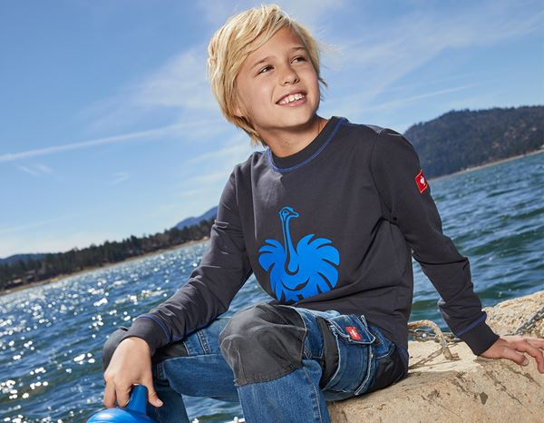 Shirts, Pullover & more: Sweatshirt e.s.motion 2020, children's + graphite/gentian blue