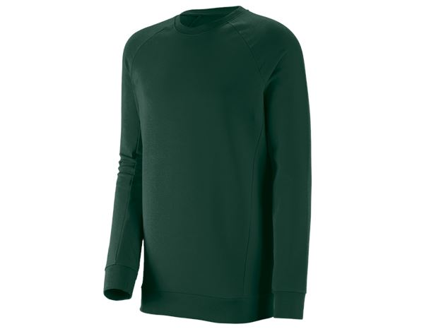 Shirts, Pullover & more: e.s. Sweatshirt cotton stretch, long fit + green