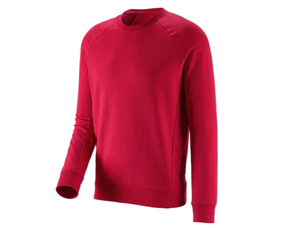 Shirts, Pullover & more: e.s. Sweatshirt cotton stretch + fiery red