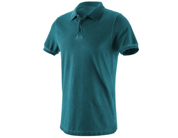 Polo-Shirts: e.s. Polo shirt vintage cotton stretch + darkcyan vintage