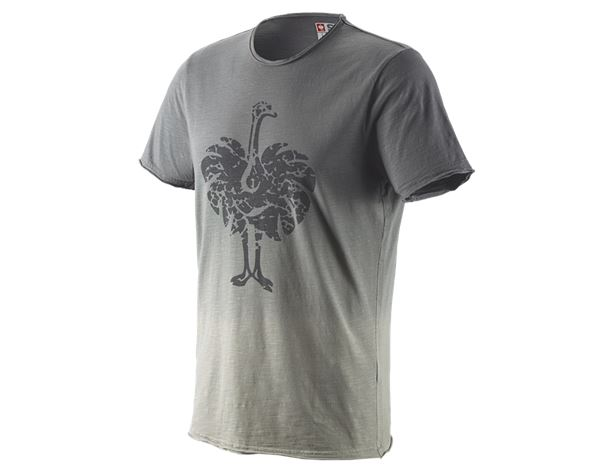 T-Shirts: e.s. T-Shirt workwear ostrich + granite vintage