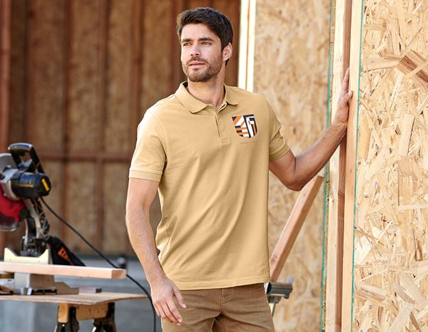 Polo-Shirts: e.s. Polo shirt Masters of Craft + straw yellow