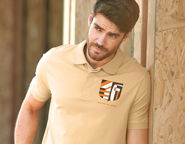 Polo-Shirts: e.s. Polo shirt Masters of Craft + straw yellow 1