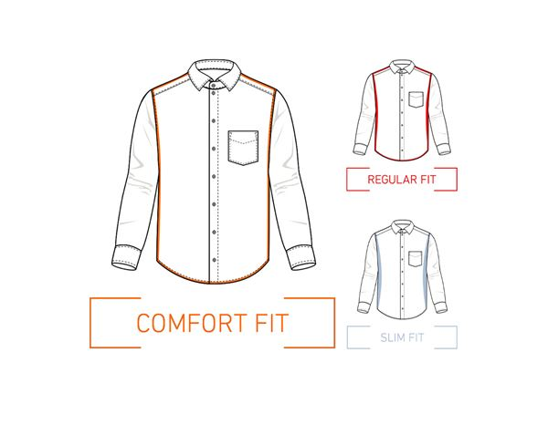 Shirts, Pullover & more: e.s. Business shirt cotton stretch, comfort fit + frostblue 1