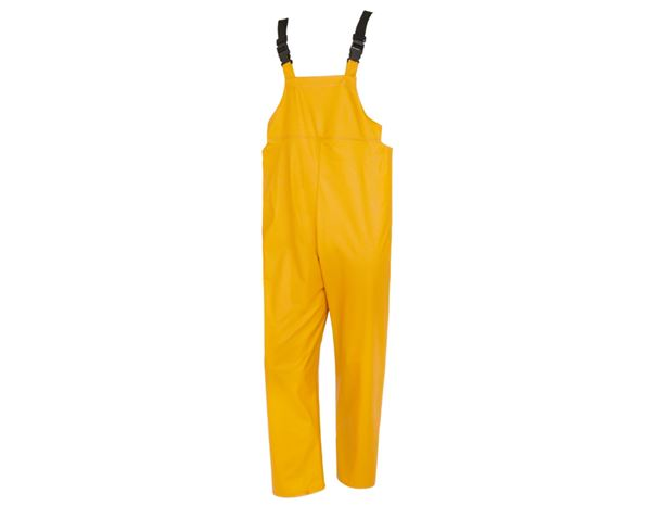 Work Trousers: Flexi-Stretch bib and brace + yellow