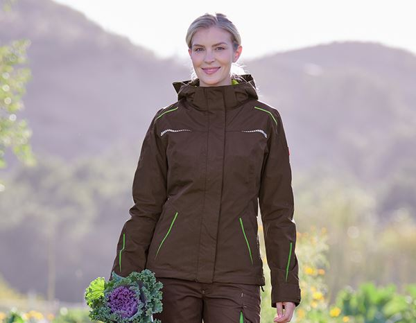 Work Jackets: 3 in 1 functional jacket e.s.motion 2020, ladies' + chestnut/seagreen