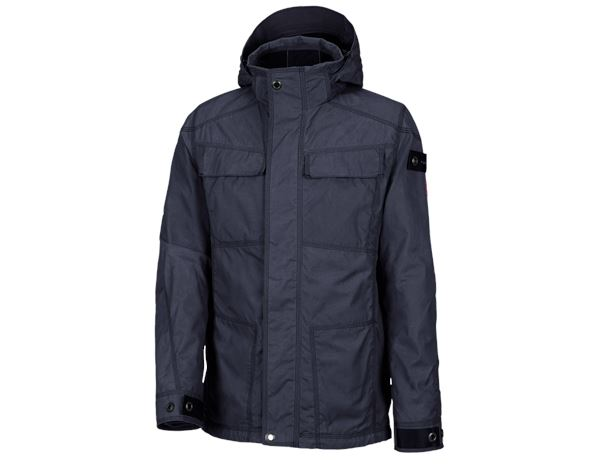 Winter Jackets: e.s. Functional jacket cotton touch + midnightblue