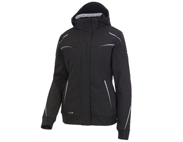 Work Jackets / Body Warmer: Winter softshell jacket e.s.motion 2020, ladies' + black/platinum