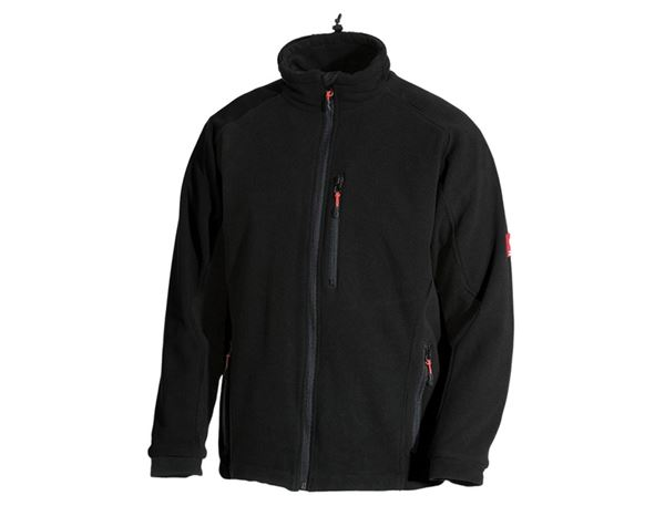 Work Jackets: Functional fleece jacket dryplexx® wind + black