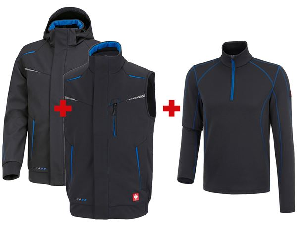 Christmas: SET:Winter softshell jacket+Bodyw. e.s.motion2020 + graphite/gentian blue