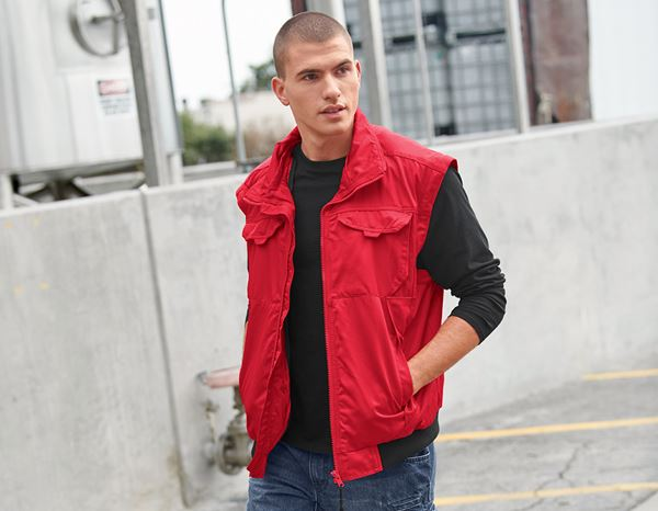 Work Jackets: 4-in-1 Pilot Jacket Atlanta II + red 1