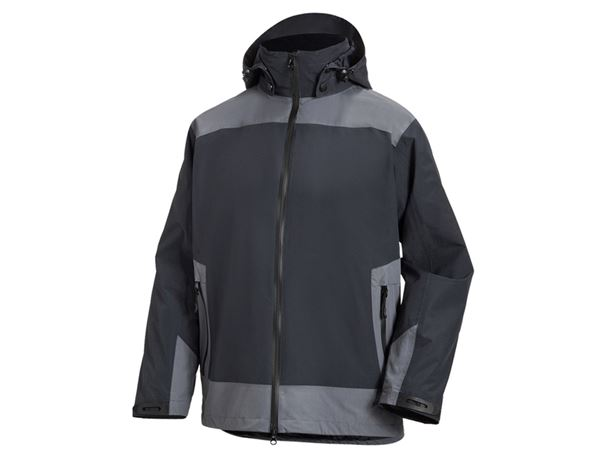 Work Jackets: e.s. 3 in 1 functional jacket, men + graphite/cement