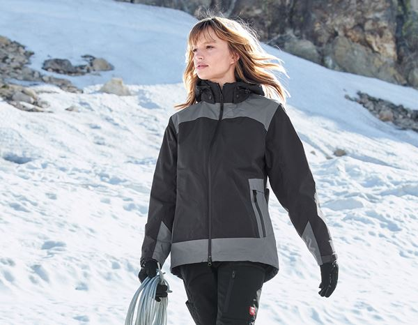 Work Jackets: e.s. 3 in 1 ladies' Functional jacket + graphite/cement
