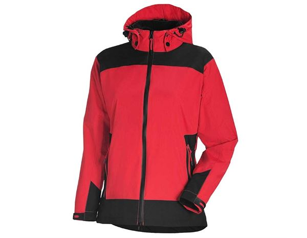 Work Jackets / Body Warmer: e.s. 3 in 1 ladies' Functional jacket + red/black