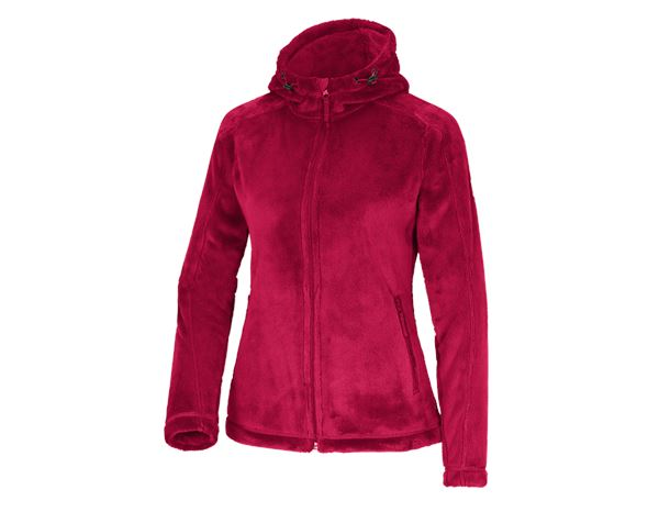 Work Jackets: e.s. Zip jacket Highloft, ladies' + berry