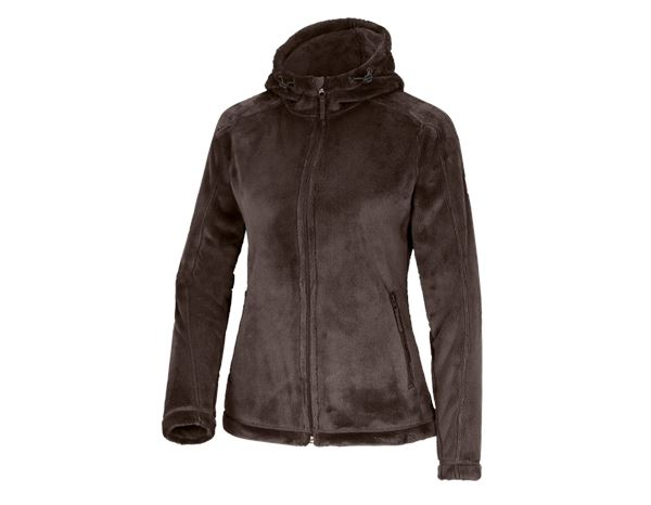Work Jackets: e.s. Zip jacket Highloft, ladies' + chestnut