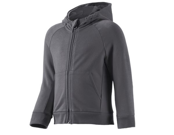 Shirts, Pullover & more: e.s. Hoody sweatjacket cotton stretch, children's + anthracite