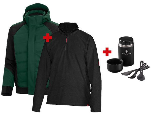 Christmas: SET: Winter softshell jacket e.s.vision+troyer + green/black
