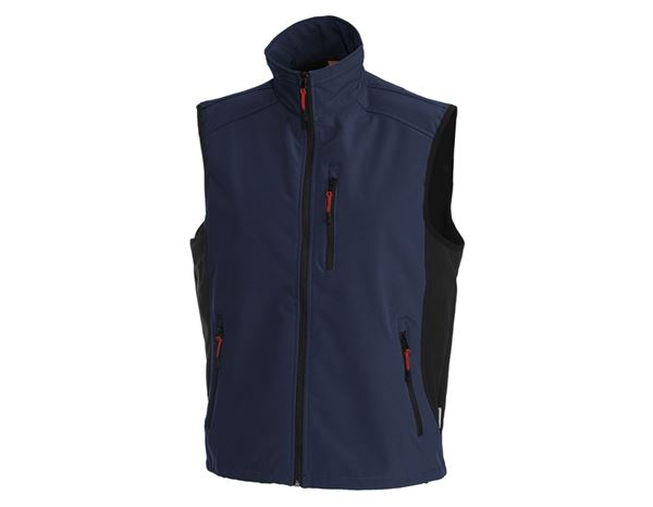 Work Body Warmer: Softshell bodywarmer dryplexx® softlight + navy/black