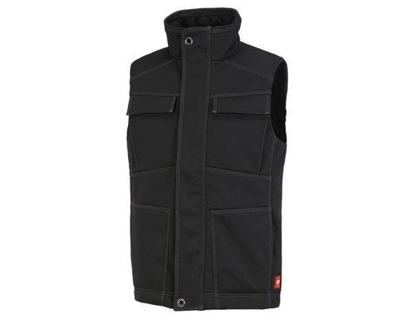Body Warmer: Winter softshell bodywarmer e.s.roughtough + black