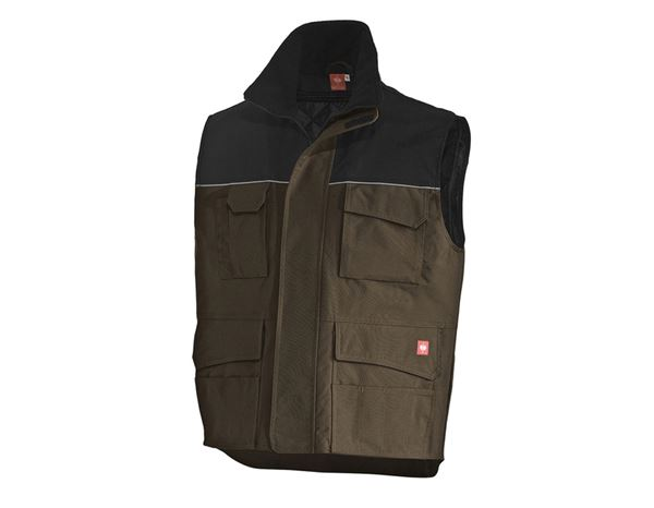 Work Body Warmer: Bodywarmer e.s.image  + olive/black