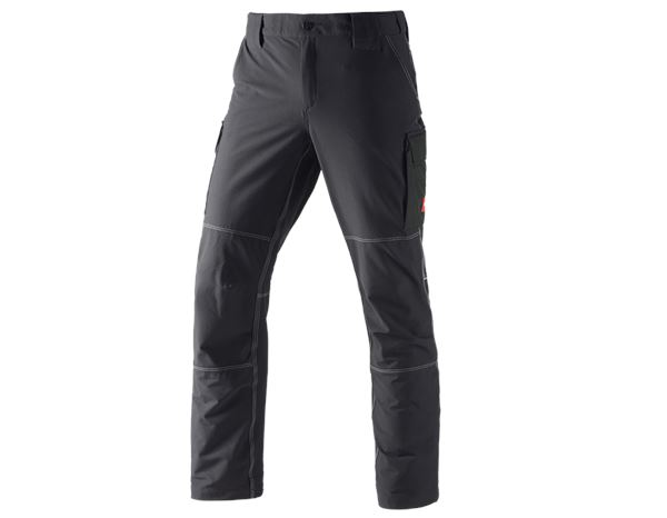 Work Trousers: Winter functional cargo trousers e.s.dynashield + black