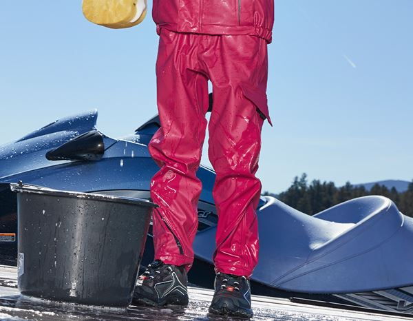 Trousers: Rain trousers e.s.motion 2020 superflex,children's + berry/navy