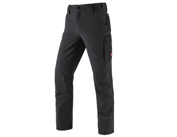 Work Trousers: Functional cargo trousers e.s.dynashield solid + black