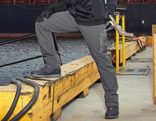 Work Trousers: Functional cargo trousers e.s.dynashield solid + anthracite