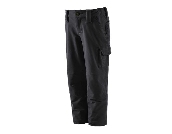 Trousers / Shorts: Funct.cargo trousers e.s.dynashield solid,child. + black