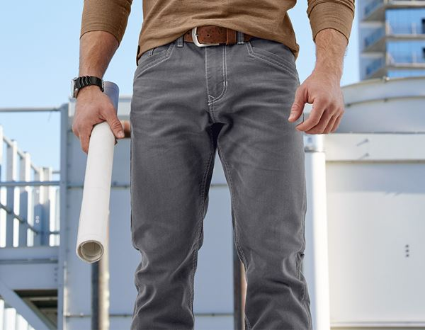 Work Trousers: 5-pocket Trousers e.s.vintage + pewter