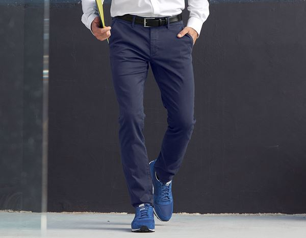 Work Trousers: e.s. 5-pocket work trousers Chino + navy