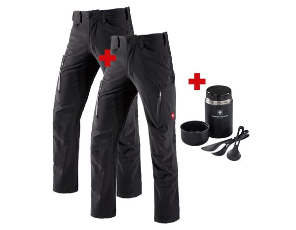 Christmas-Combo-Sets: Cargo trousers+Winter cargo trousers e.s.vision + black