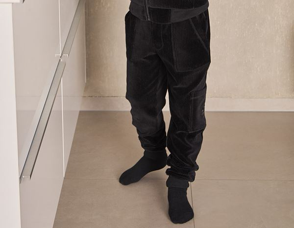 Accessories: e.s. Homewear cargo trousers, children's + black