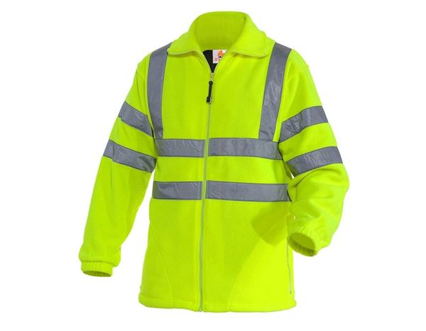 Work Jackets: STONEKIT High-vis jacket Fleece + high-vis yellow
