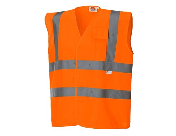 Work Body Warmer: STONEKIT High-vis bodywarmer with pocket + high-vis orange